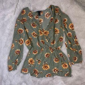 Sunflower print romper!! :)